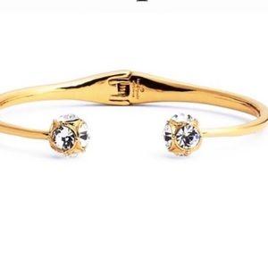 Kate Spade Lady Gold Bangle Bracelet Crystal Ball